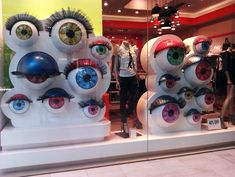 Eye-catching store display...What if the eyeballs were mobile and can follow passers-by too?