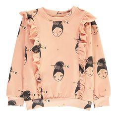 Soft Gallery Lane Ruffled Sweatshirt Pink #KidsFashionTrends