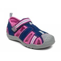 Pediped Sahara, Navy Pink Adventure Sandals (Water Safe)