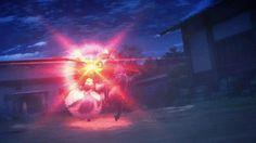 『アニメのソードアート・オンライン2で銃弾を剣で弾いて防ぐ主人公のGIF画像』の関連gif画像|Fate/stay night Unlimited Blade Worksのセイバーが戦闘でランサーを押しているGIF画像 created by mero
