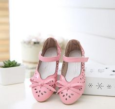 Girls princess leather shoes spring children's casual fashion single school shoes bow dress flats shoes kids ninas