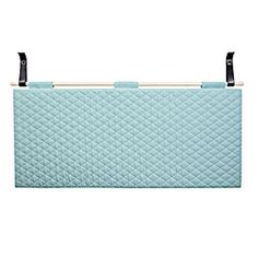 by design - PYTT Living - headboard aqua Unique Bedside Tables, Hanging Shelves, Blue Bedroom, Headboards For Beds, Blue Tones, Aqua, Blues, Design, Diy
