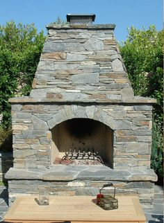 Gorgeous  outdoor fireplace oklahoma city