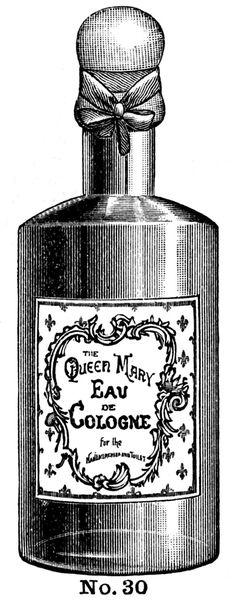 Clip vintage, bote para perfume