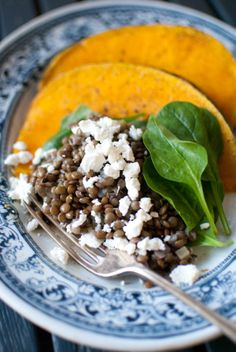 Scandi Home: Orange flavoured roasted pumpkin with lentils
