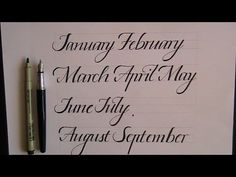 Calligraphy for Beginners - How to Write a Lower Case Italic Alphabet w/Joanne Fink - YouTube