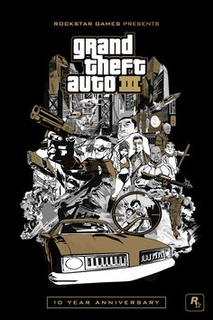 GTA III, Anniversary Edition - coming to iPads and iPhones soon Grand Theft Auto 3, Grand Theft Auto Series, Game Development Company, Video Game Development, Wallpapers En Hd, Gaming Wallpapers, Gta 5, Rockstar Games Gta, San Andreas Gta