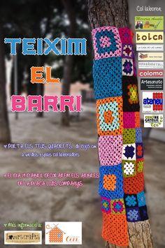 urban knitting en Pça Lluís Companys de L'hospitalet de Llobregat el 19 de abril de 2013 a las 17:00h!! Pásalo!