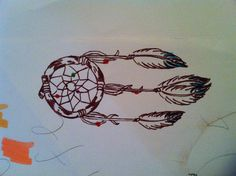 small little dreamcatcher drawing for tattoo