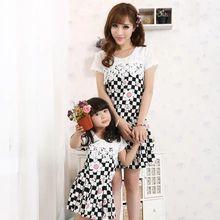 2014 Family módne oblečenie pre matky a dcéry, letné jedného kusu šaty šifón matka dcéra šaty oblečenie (Čína (pevninská časť))