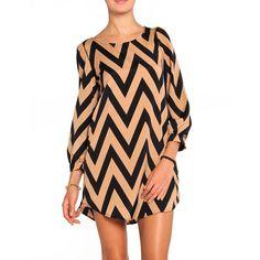 Zigzag Shift Dress via Polyvore