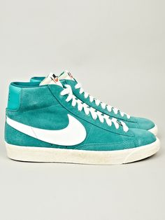 Nike Men s Vintage Suede Blazer Trainer in green at oki-ni. 6d8e6002b
