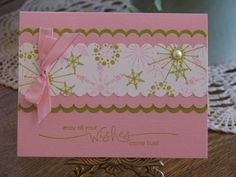 kiwi pink snow burst vky by Vickie Y - Cards and Paper Crafts at Splitcoaststampers Snow Burst