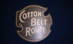 this is the Cotton belt railroad it is a missouri arkansas oklahoma and texas railroad all of these are available from MD Trains Train Decorations, Arkansas, Oklahoma, Missouri, Trains, Texas, Boards, Belt, Personalized Items