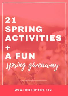 Some of my favorite spring activities for those perfect days when it's way too pretty to stay home watching Netflix. So many things to do in the spring! + A fun spring giveaway with some of my favorite bloggers!