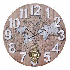 Clock, Wall, Home Decor, Desk Clock, Tree Hut Watches, Worldmap, Note Cards, Blue Nails, Watch