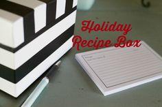 Holiday Recipe Box #