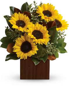 You're Golden sunflower bouquet by Teleflora