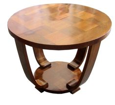 French Art Deco Rosewood Palissandre Parquetry Coffee Table, 1930's