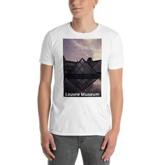 Louvre Museum Short-Sleeve Unisex T-Shirt by CreativeWearOnline on Etsy Source by sandiledlmn Louvre Museum, I Shop, Short Sleeves, Unisex, Etsy, Trending Outfits, Mens Tops, Shirts, Shopping