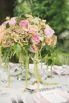 Wedding Centerpiece | See more wedding centerpieces on #SMP Weddings: http://www.stylemepretty.com/gallery/tag/centerpiece/