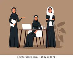 Find Successful Creative Business Team Arab Women stock images in HD and millions of other royalty-free stock photos, illustrations and vectors in the Shutterstock collection. Thousands of new, high-quality pictures added every day. Arabic Characters, Anime Muslim, Arab Women, Character Design Animation, Book Aesthetic, Motion Design, Kids Decor, Creative Business, Graphic Illustration
