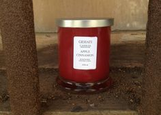 """You can never go wrong with the warm, cozy smell of an """"Apple Cinnamon"""" candle. The scent of this candle is infused with McIntosh apples, Cinnamon and Nutmeg with a spruce of spiced mulled cider. This candle is a strong scent. #homeaccessory #holidaycandle #redcandle #christmascandle #strongscentcandle #gehatishop #etsyshop #etsycandle #handpourcandle"""