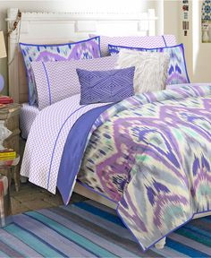 Teen Vogue Bedding, Ikat Stripe Comforter Sets - Bed in a Bag - Bed & Bath - Macy's