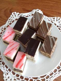 Egy szuszra 3 recept: Puncs szelet-, Hatlapos-, Mézes-tejkrémes szelet - Ketkes.com Hungarian Desserts, Cookie Recipes, Panna Cotta, Paleo, Food And Drink, Pudding, Candy, Cookies, Chocolate
