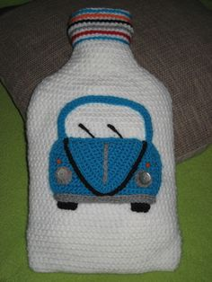 Crochet Pattern Hot Water Bottle with VW Bug Beetle !