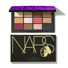 The Nars Hyped Eyeshadow Palette contains a selection of 12 limited-edition eyeshadows in a range of deeply pigmented bold and neutral shades.