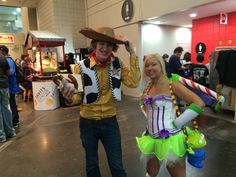 Woody Pride and female Buzz Lightyear