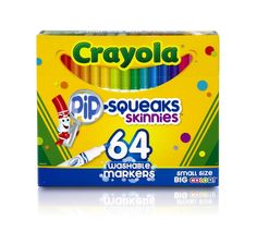 Crayola 64 Ct Washable Markers, (58-8764), New, Free Shipping