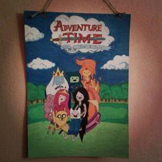 What time is it? Adventure time! #Painting #adventuretime #finn #jake #pb #princessbubblegum #iceking #bmo #lsp #marcelina