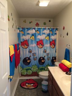 Angry Bird Bathroom For A Toddler
