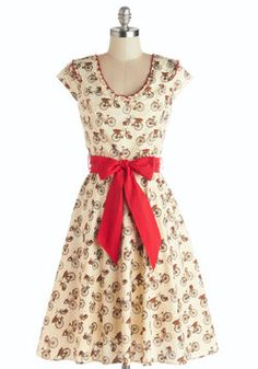 Darling Delivery Dress. That elation you feel when a delivery is made to your door? #cream #modcloth