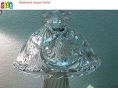 Weekend Super Sale! Vintage Crystal Clear Decorative Glass Light Lamp Wall Ceiling Replacement Shade by VintageCoolThings on Etsy https://www.etsy.com/listing/291057597/weekend-super-sale-vintage-crystal-clear