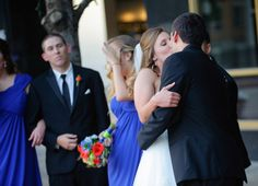 bride & groom kiss  Wedding at Arlington Heights United Methodist and The Fort Worth Club