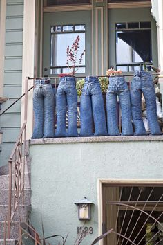 Jeans Planters....sweet