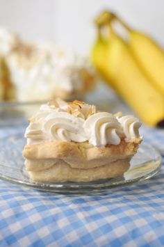 Sliced Banana Cream Pie