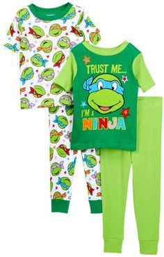 197746035ed Teenage Mutant Ninja Turtles Truse Me Cotton PJs - Set of 2 (Toddler Boys)