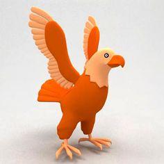 3D Model Eagle Cartoon - 3D Model