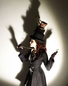 I love Helena Bonham Carter-hat on a hat on a hat!