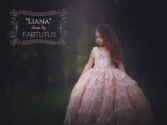 """Nude blush champagne flower girl dress - """"Liana"""" dress in blush and champagne - """"At First Blush Collection"""" 2015 - Limited Edition"""