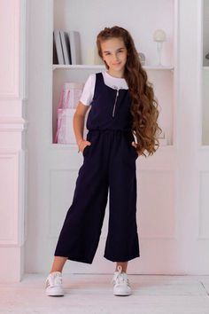 Overalls for children photo 1 , New Fashion Clothes, Teen Fashion Outfits, Kids Fashion, Cool Outfits, Kids Outfits Girls, Little Girl Dresses, Girls Dresses, Flower Girl Dresses, Vogue Kids