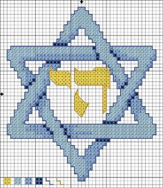 @:#Star of David Paper Pattern | Star Of David 12-Inch Afghan Square // Also for use with #Embroidery