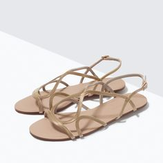 FLAT CHAIN SANDALS from Zara