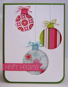 Snippets By Mendi: Day 22- An Echo Park Happy Holidays Ornament Card