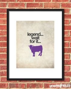 Legend wait for it... you know the line... Dairy! Stay fresh with this purple cow and don't spoil the good times!