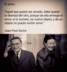 Jean Paul Sartre, Words Quotes, Me Quotes, Sayings, The Words, Sartre Quotes, Frases Love, Love Phrases, French Words
